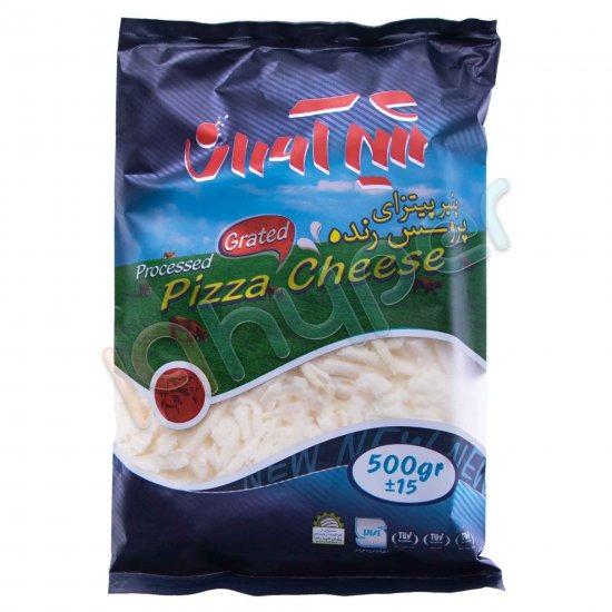 پنير پيتزا پروسس رنده 500 گرمي شيرآوران